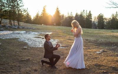 Photographier une demande en mariage